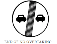 End of no overtaking
